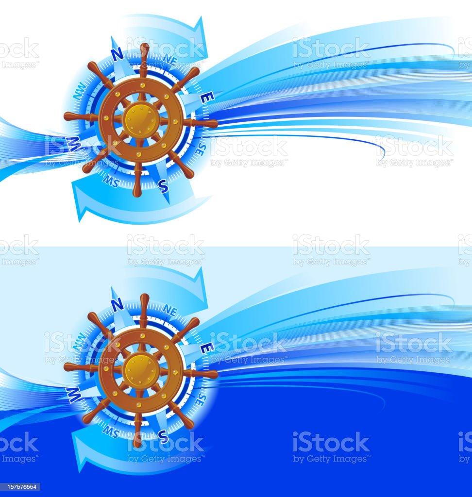 Travel steering-wheel navigation royalty-free stock vector art