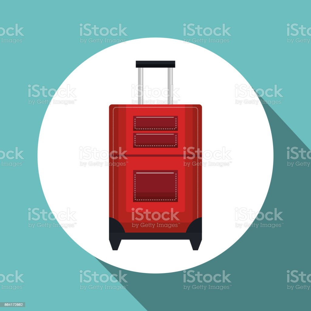 travel suitcase red vacation design royalty-free travel suitcase red vacation design stock vector art & more images of adventure