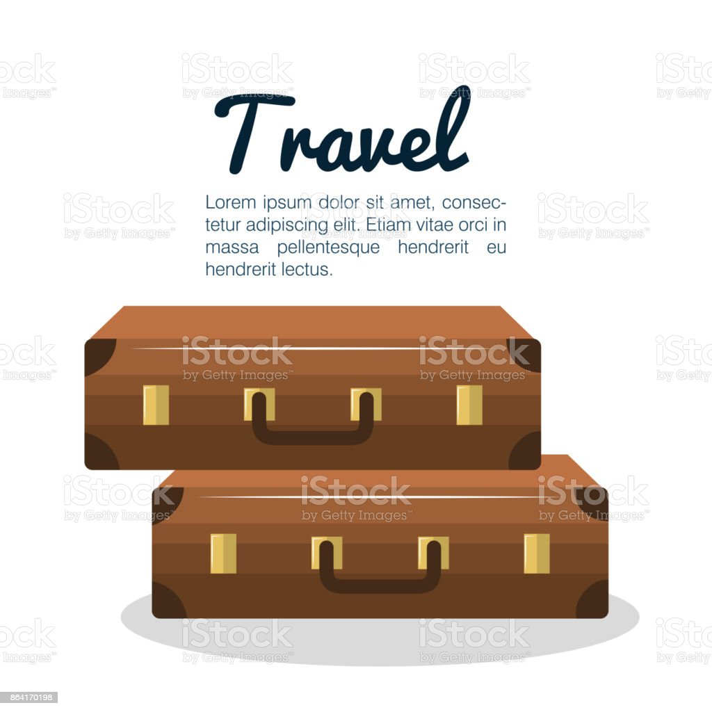 travel suitcase vacation design royalty-free travel suitcase vacation design stock vector art & more images of adventure