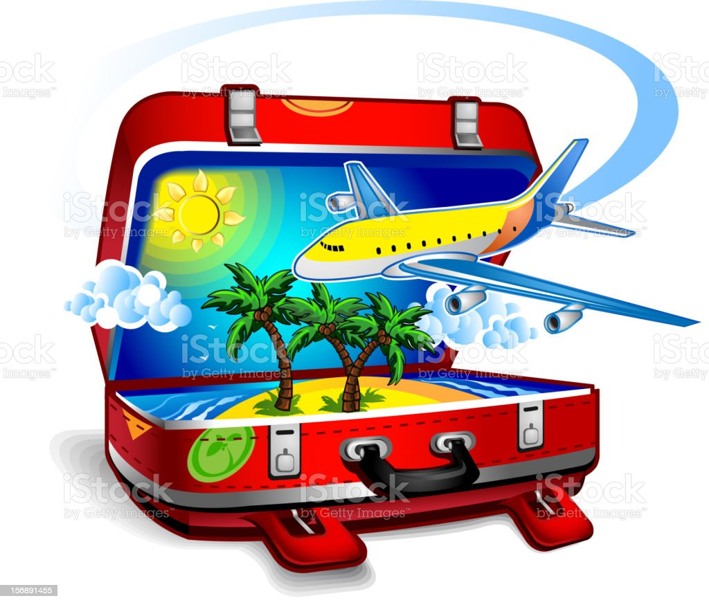 Travel suitcase royalty-free travel suitcase stock vector art & more images of airplane