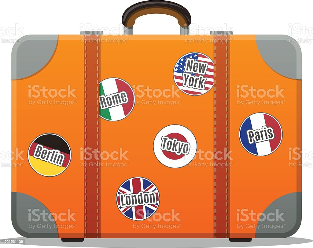 Travel Suitcase vector art illustration