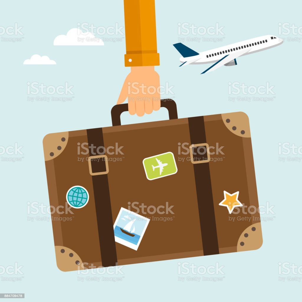 Travel suitcase - Royalty-free Adult stock vector