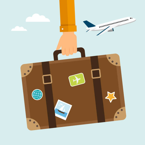 travel suitcase - travel destinations stock illustrations