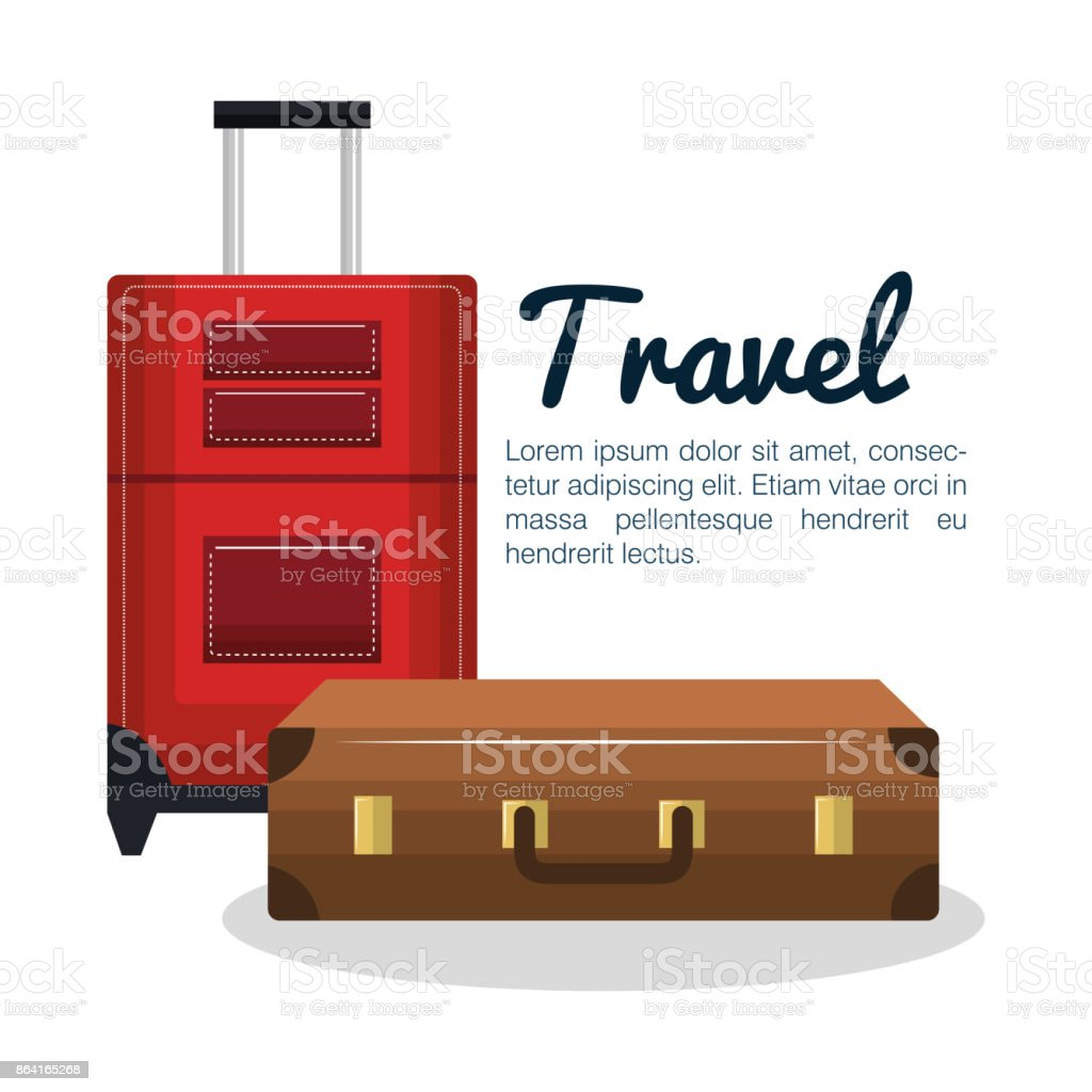 travel suitcases design isolated royalty-free travel suitcases design isolated stock vector art & more images of bag