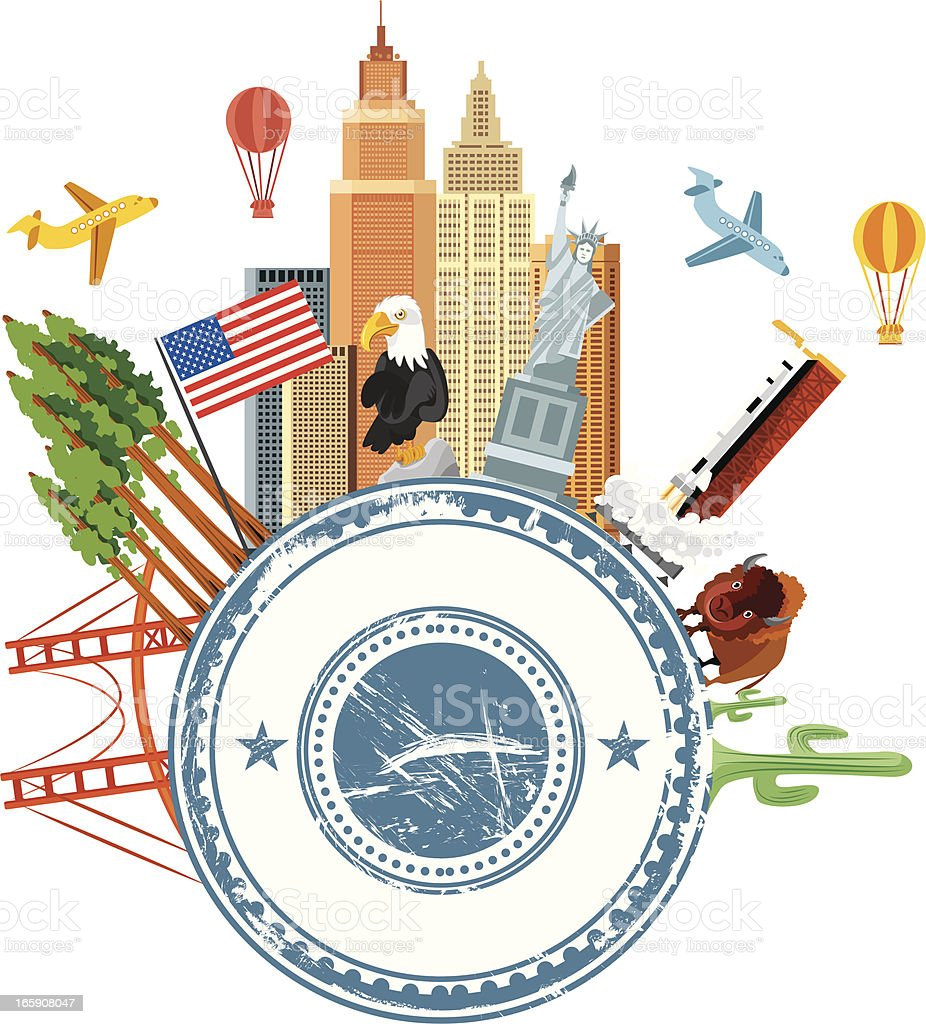 Usa travel symbols stock vector art more images of american usa travel symbols royalty free usa travel symbols stock vector art amp more images buycottarizona Image collections