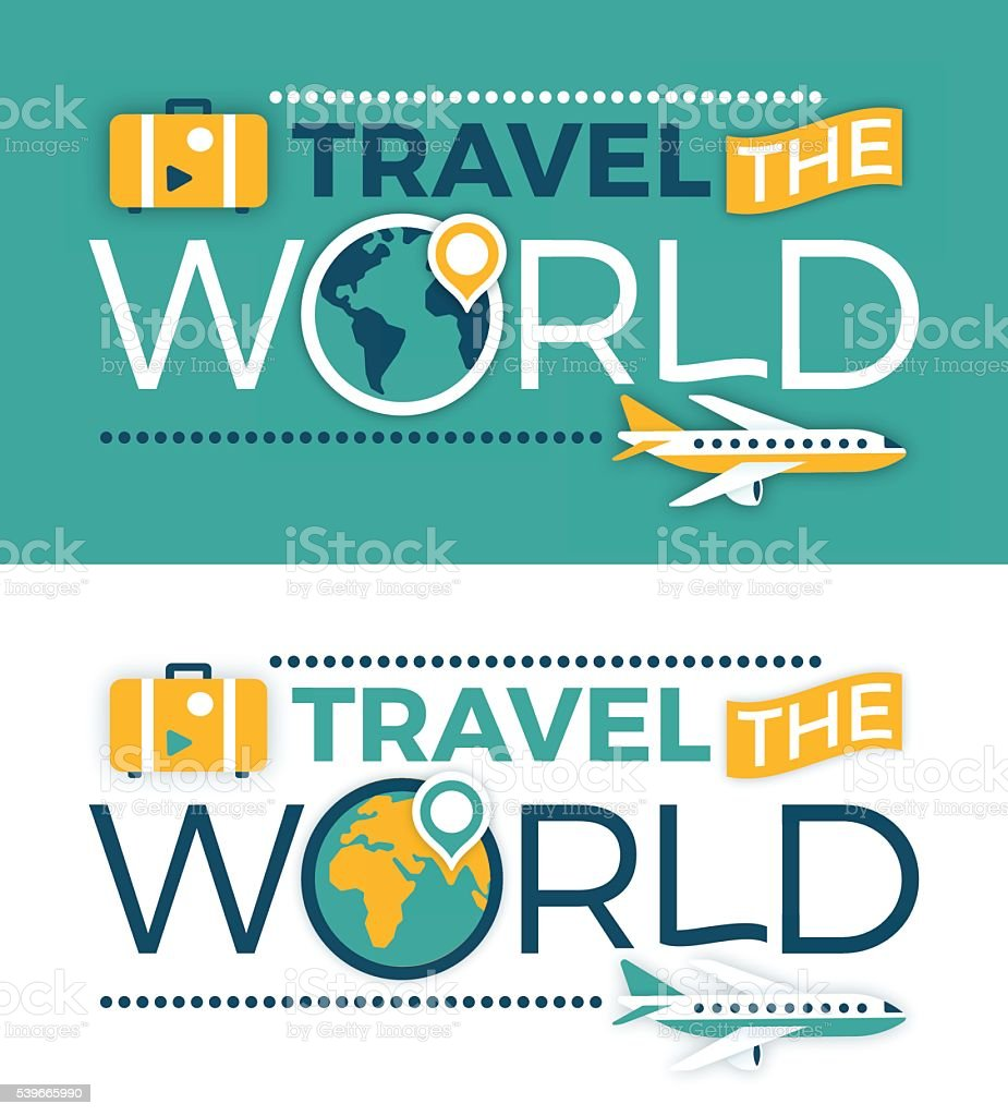 Travel the World vector art illustration