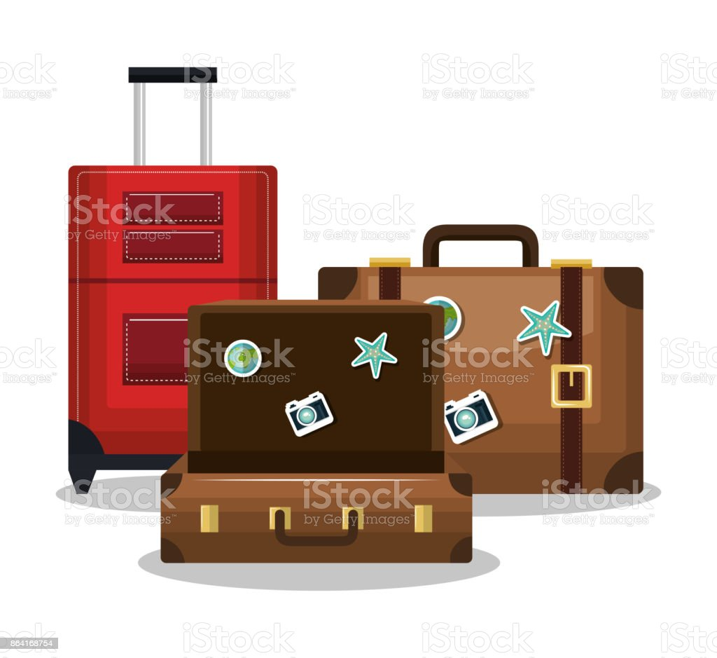 travel three suitcase vacation design royalty-free travel three suitcase vacation design stock vector art & more images of adventure
