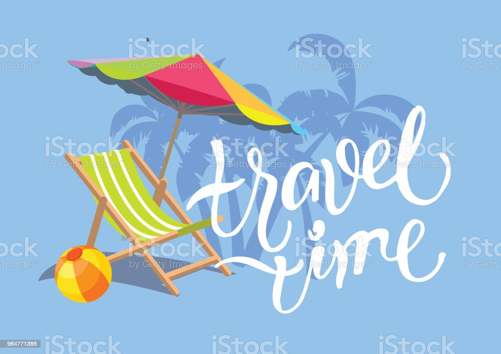 Travel time - hand drawn doodle banner royalty-free travel time hand drawn doodle banner stock vector art & more images of abstract