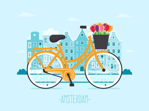 stockillustraties, clipart, cartoons en iconen met reizen naar amsterdam - netherlands