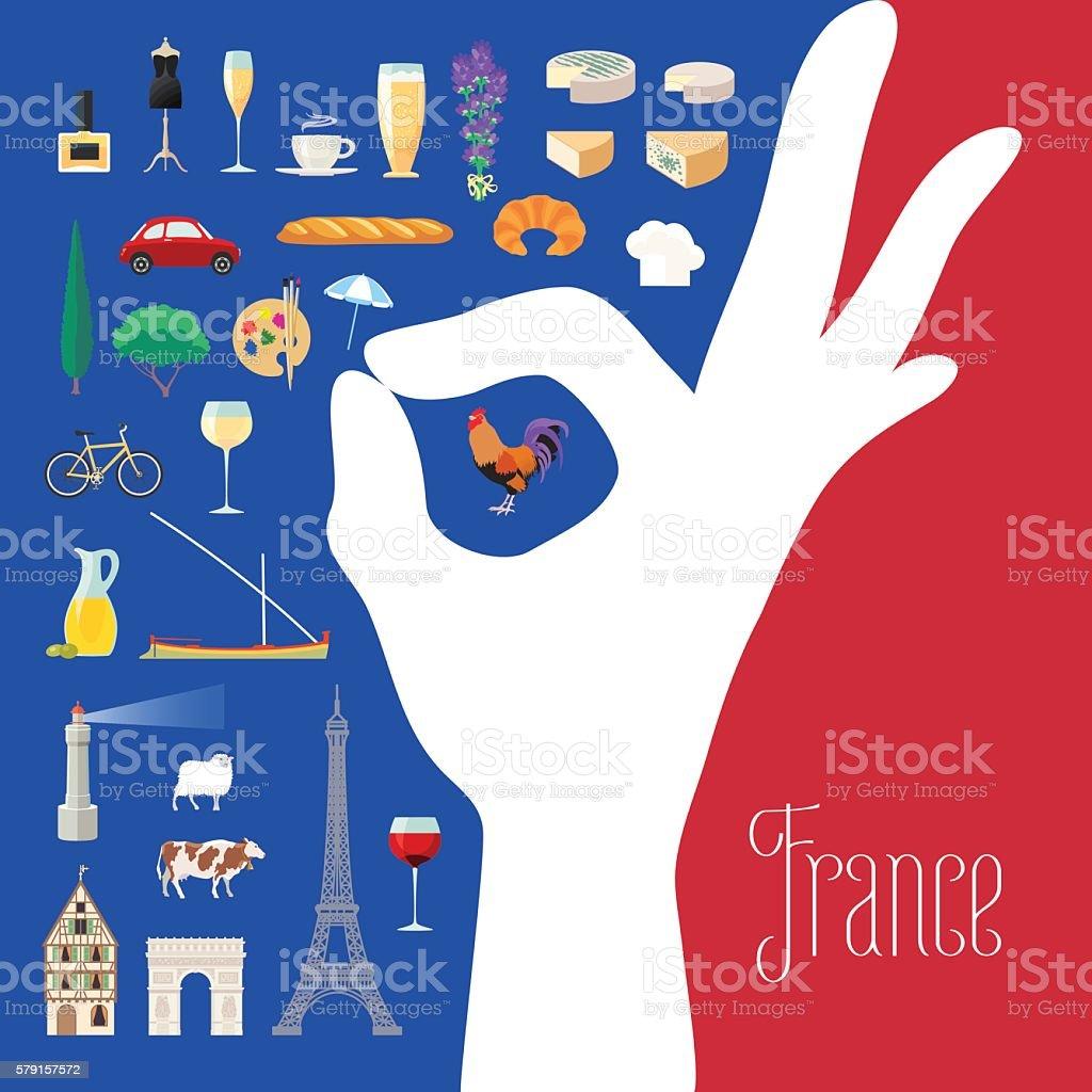Travel to France concept illustration vector art illustration