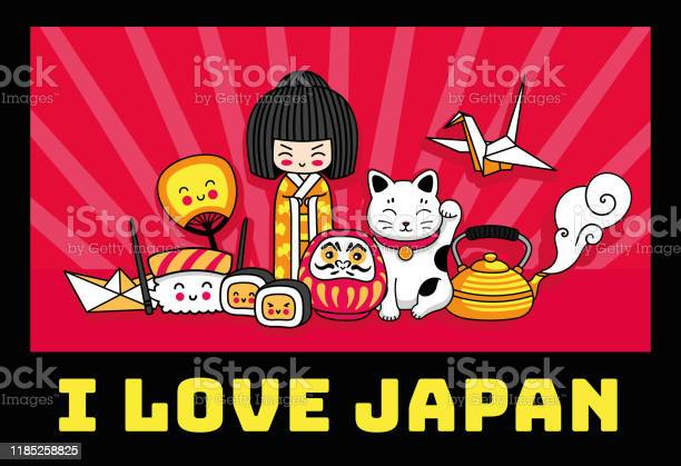 Travel to japan cute cartoon concept for tshirt print poster postcard vector id1185258825?b=1&k=6&m=1185258825&s=612x612&h=rmf5qdfnemrhvgt tzrd3ruvaynar3v kmxrqgkcse4=