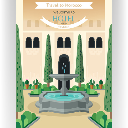 Travel to Morocco poster template.