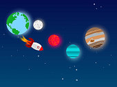 Travel to space from earth, to explore the universe
