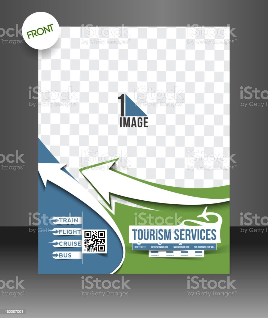Travel Tourism Flyer Template Stock Vector Art More Images Of
