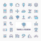 Travel & Tourism Minimal Icon Set