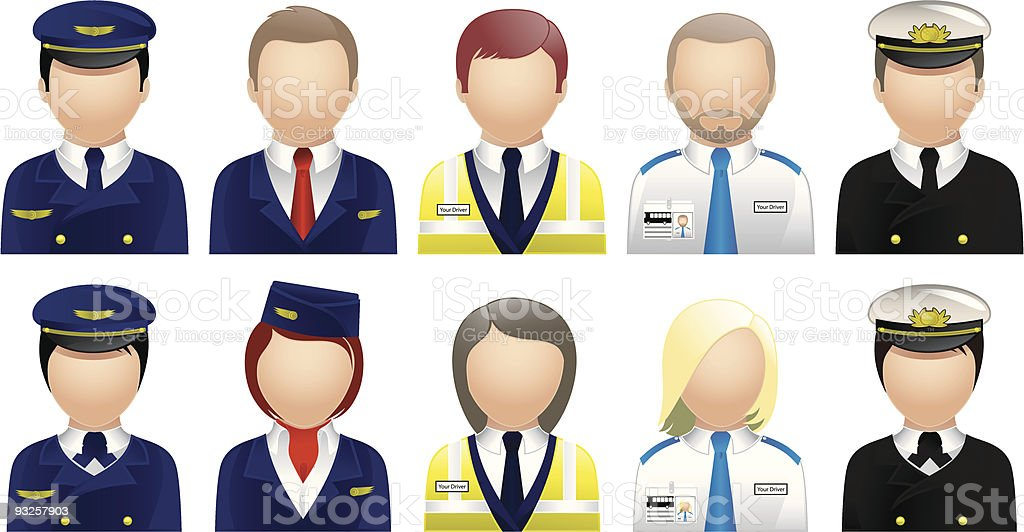 Travel & Tourism People - Avatars and User Icons vector art illustration