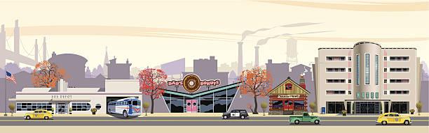 travel die stadt - straßenschilder stock-grafiken, -clipart, -cartoons und -symbole