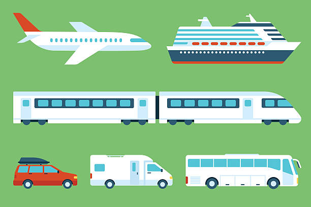 stockillustraties, clipart, cartoons en iconen met travel transportation - trein