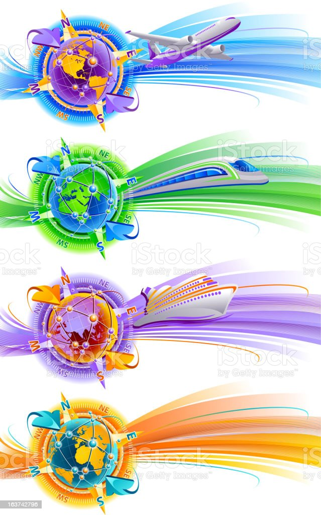 Travel vacation banners royalty-free stock vector art
