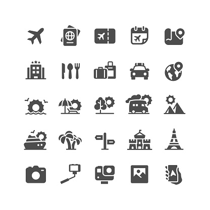 Travel & Vacation Flat Icons