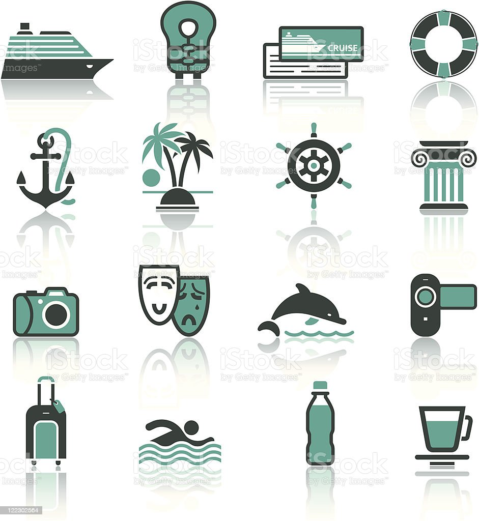 Travel, Vacation & Recreation, icons set. royalty-free travel vacation recreation icons set stock vector art & more images of anchor - vessel part