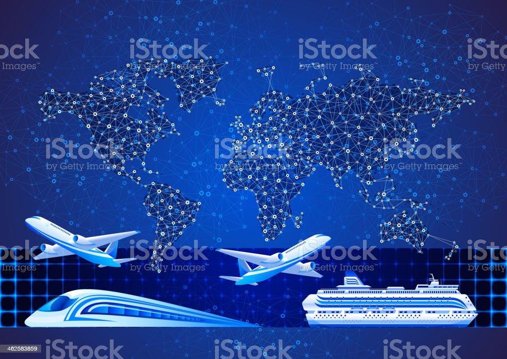 Travel vector art illustration