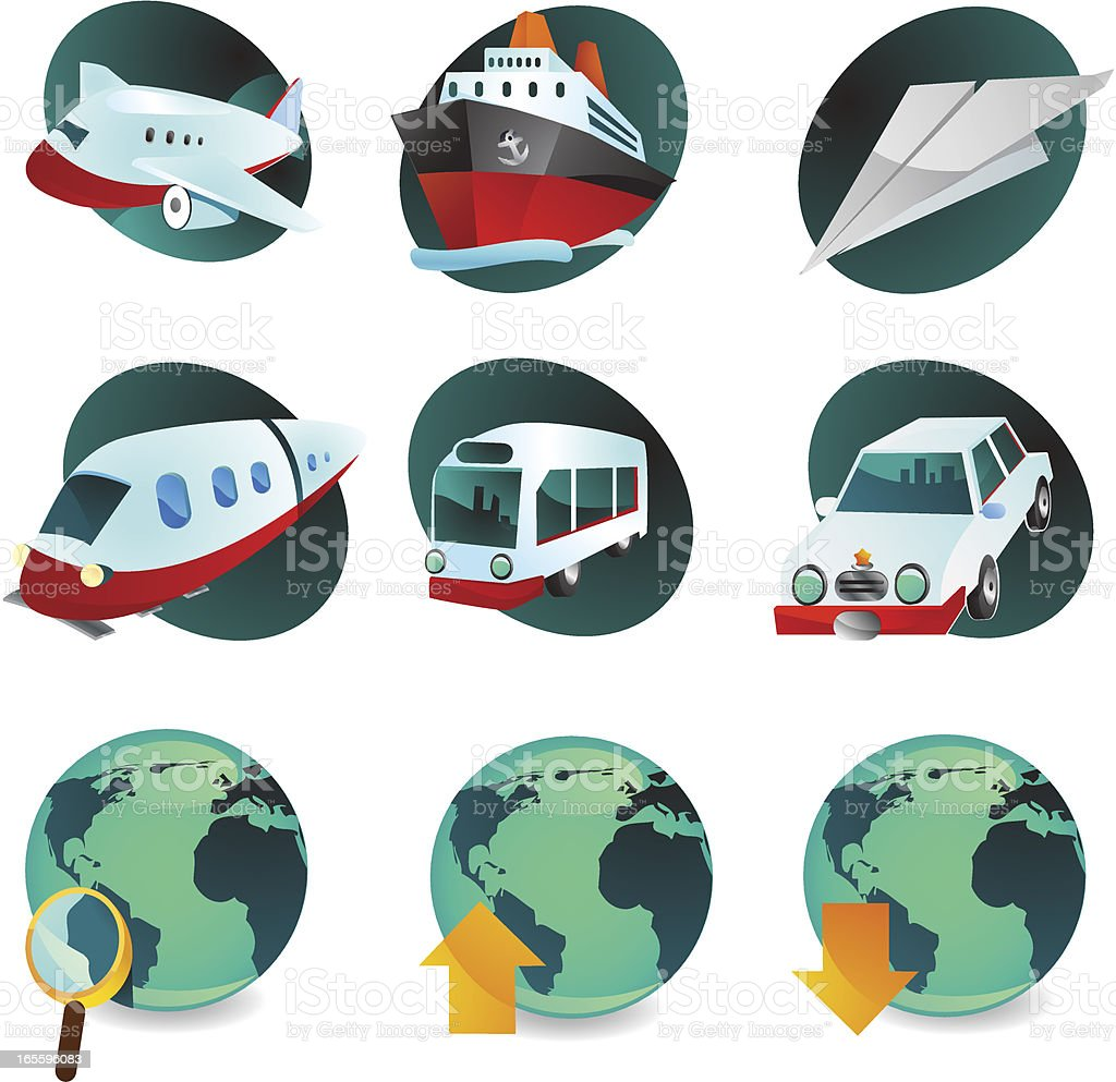 Travel Web Icons royalty-free travel web icons stock vector art & more images of airplane