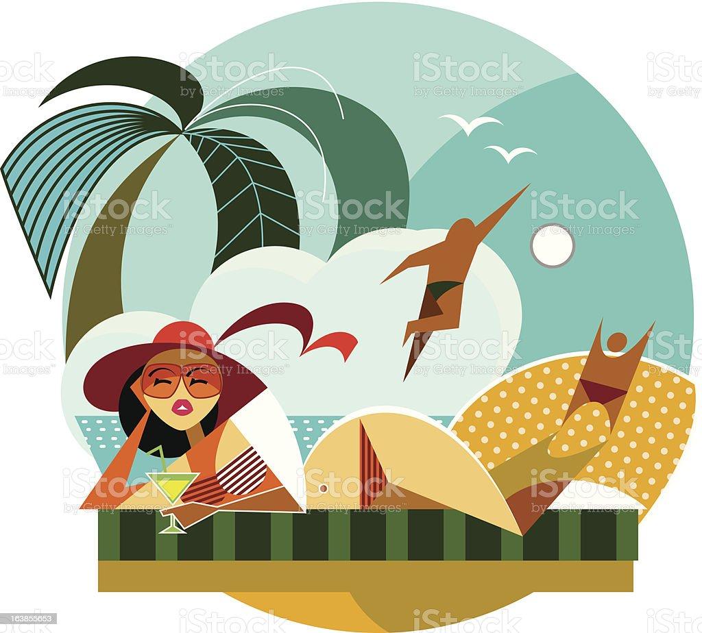 Travel woman royalty-free stock vector art