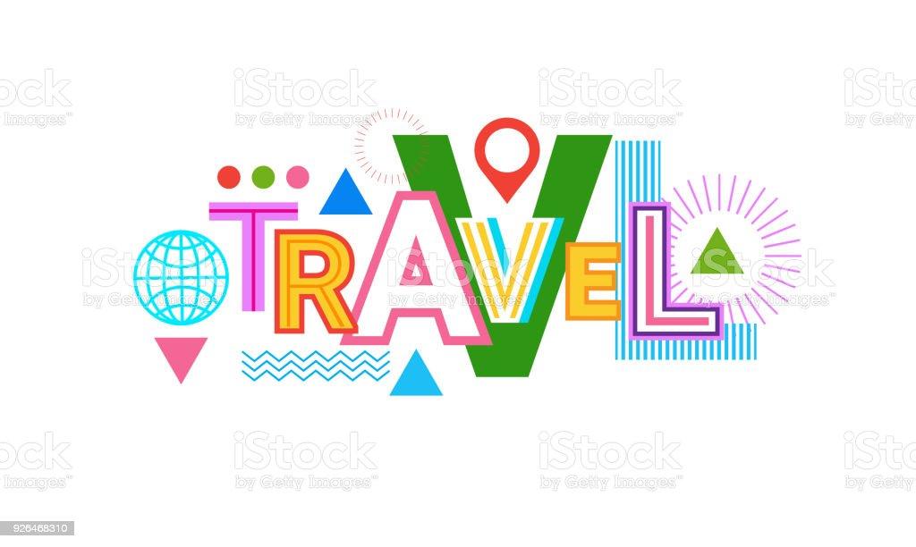 旅行 word web バナー抽象クリエイティブ テンプレートの背景 アイコン