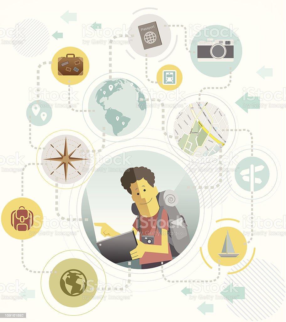 traveler communication concept design royalty-free stock vector art