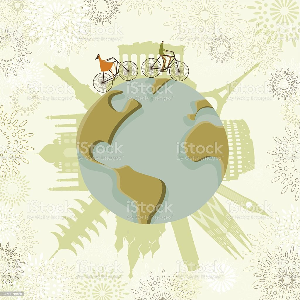 Traveling around the world royalty-free stock vector art