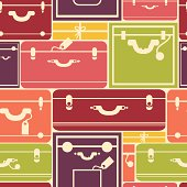 Traveling Bags Luggage Seamless Pattern