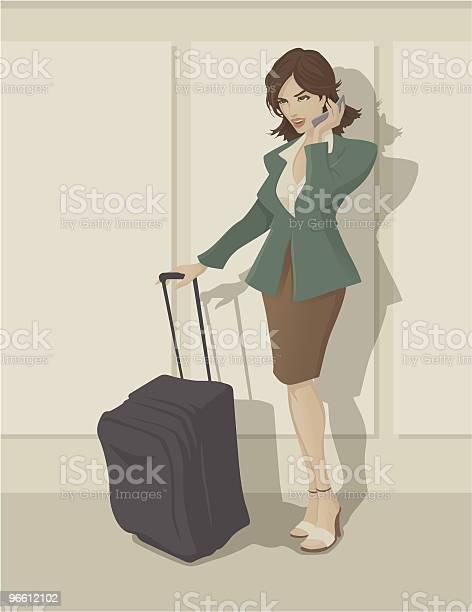 Traveling Business Woman-vektorgrafik och fler bilder på Affärskvinna