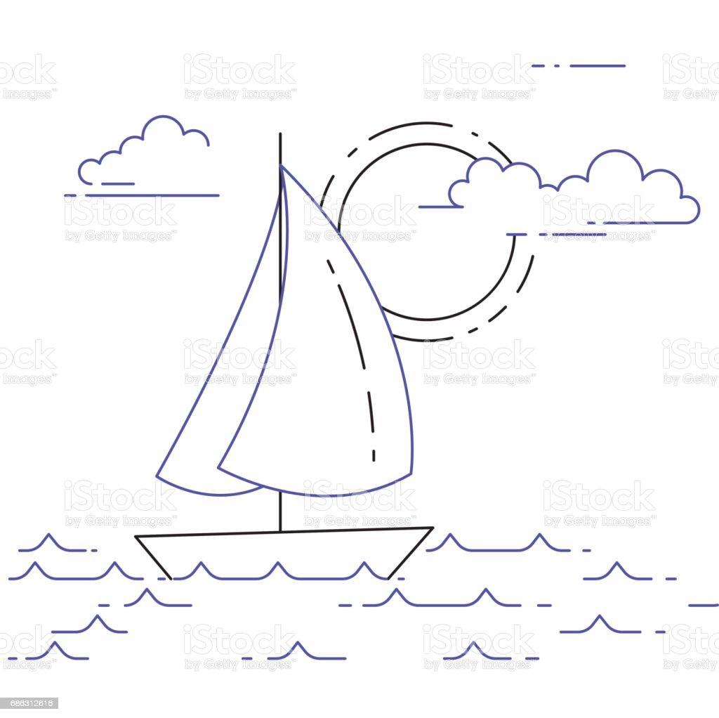 Segelboot Malen Einfach - Ausmalbilder