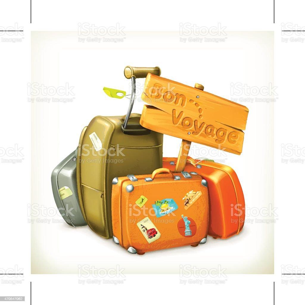 Traveling icon, vector illustration vector art illustration