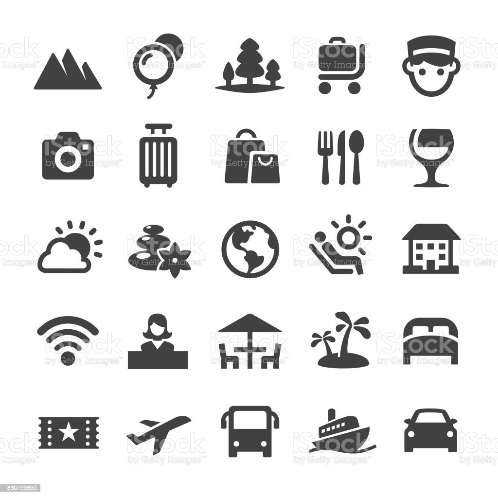 Traveling Icons - Smart Series vector art illustration