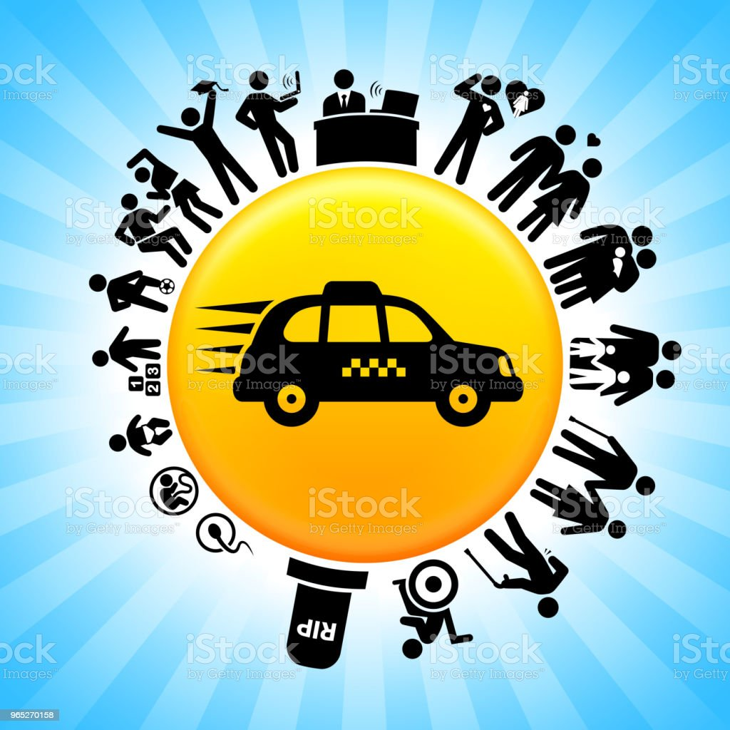 Traveling Taxicab Lifecycle Stages of Life Background royalty-free traveling taxicab lifecycle stages of life background stock vector art & more images of adolescence