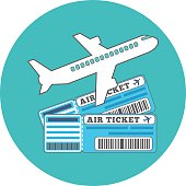 Traveling, Ticket booking concept. Flat design.