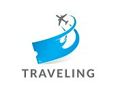 Traveling vector icon