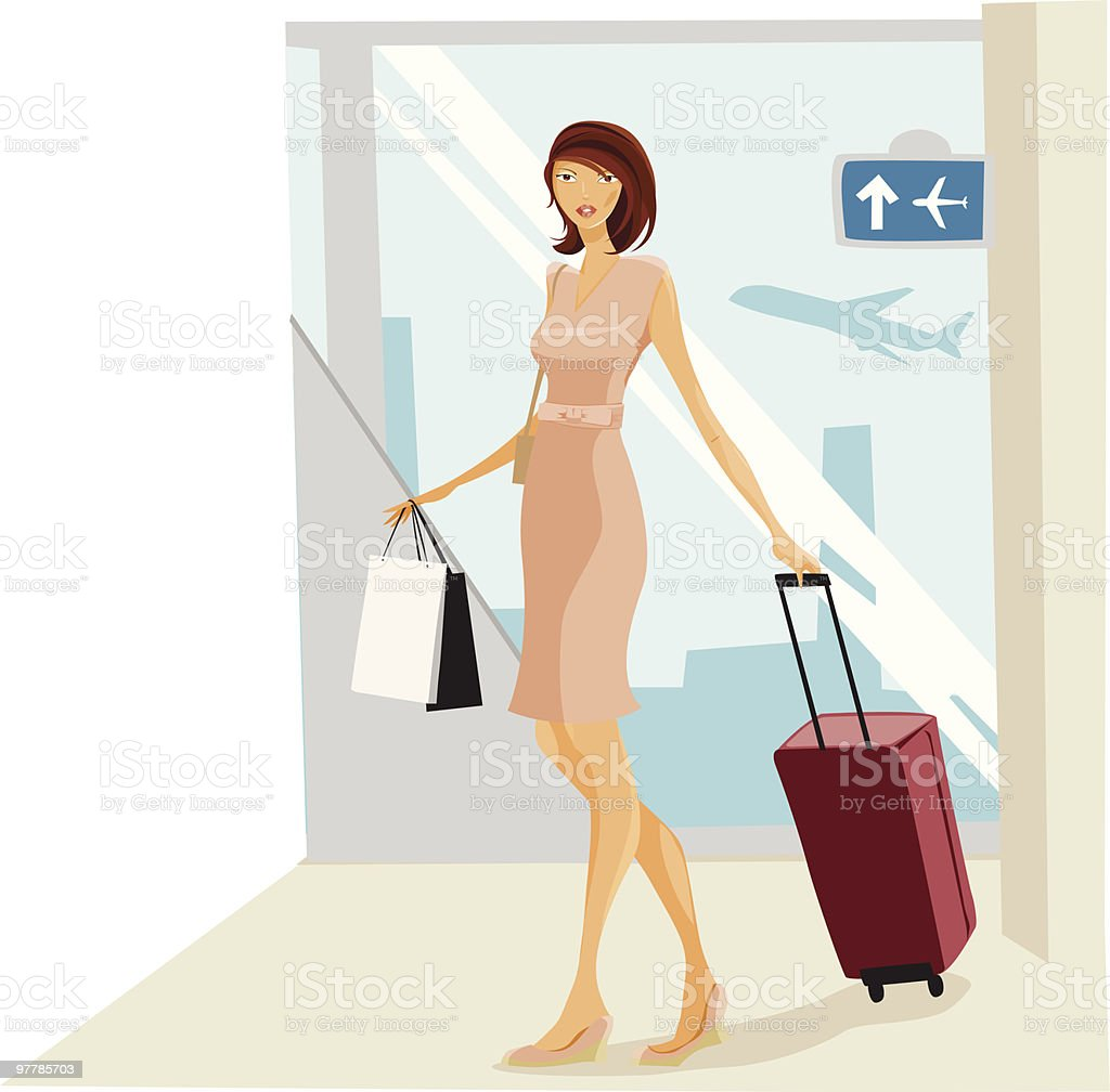 Traveling with style vector art illustration