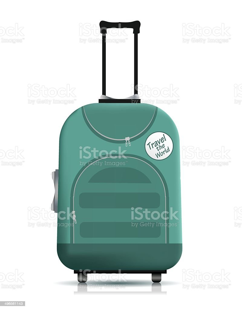 Travell suitcase vector art illustration