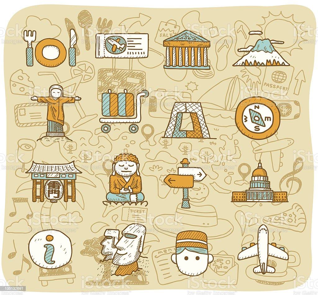 Travel,Landmarks icon set | Mocha Series royalty-free travellandmarks icon set mocha series stock vector art & more images of advice
