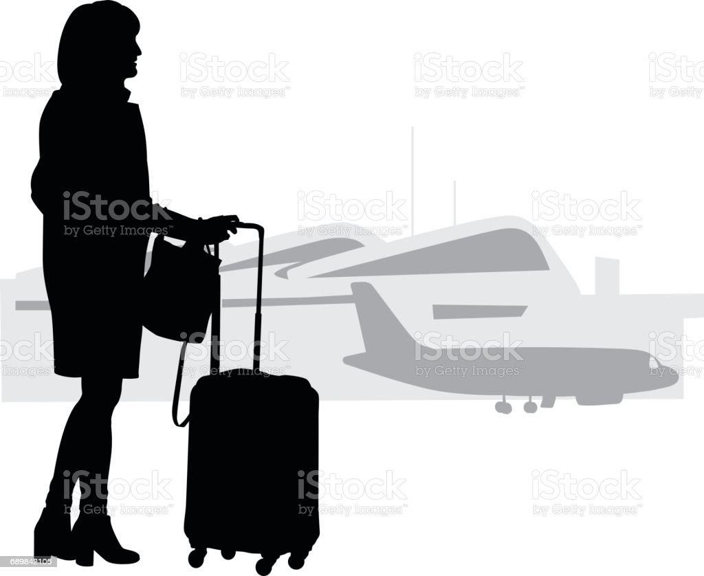 Travelling Alone vector art illustration