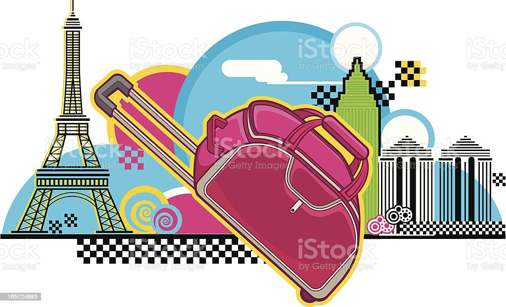 travelling bag royalty-free travelling bag stock vector art & more images of backgrounds