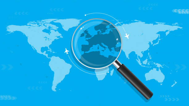 Décisions du monde itinérant - Illustration vectorielle