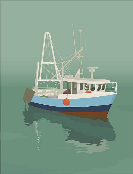ilustrações de stock, clip art, desenhos animados e ícones de traineira - fishing boat
