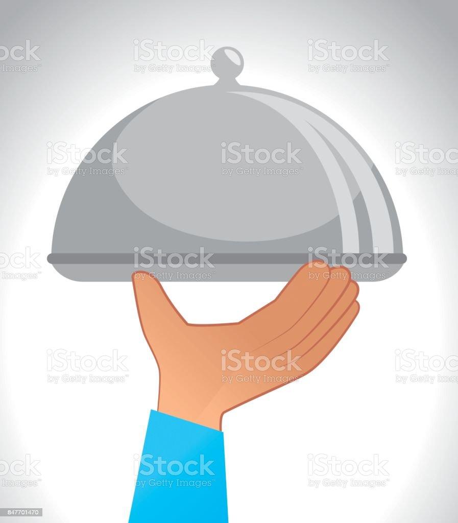 tray dish server  ico vector art illustration