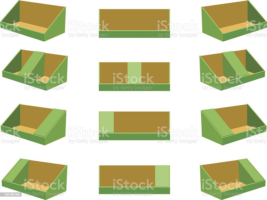 PDQ tray for Display vector art illustration