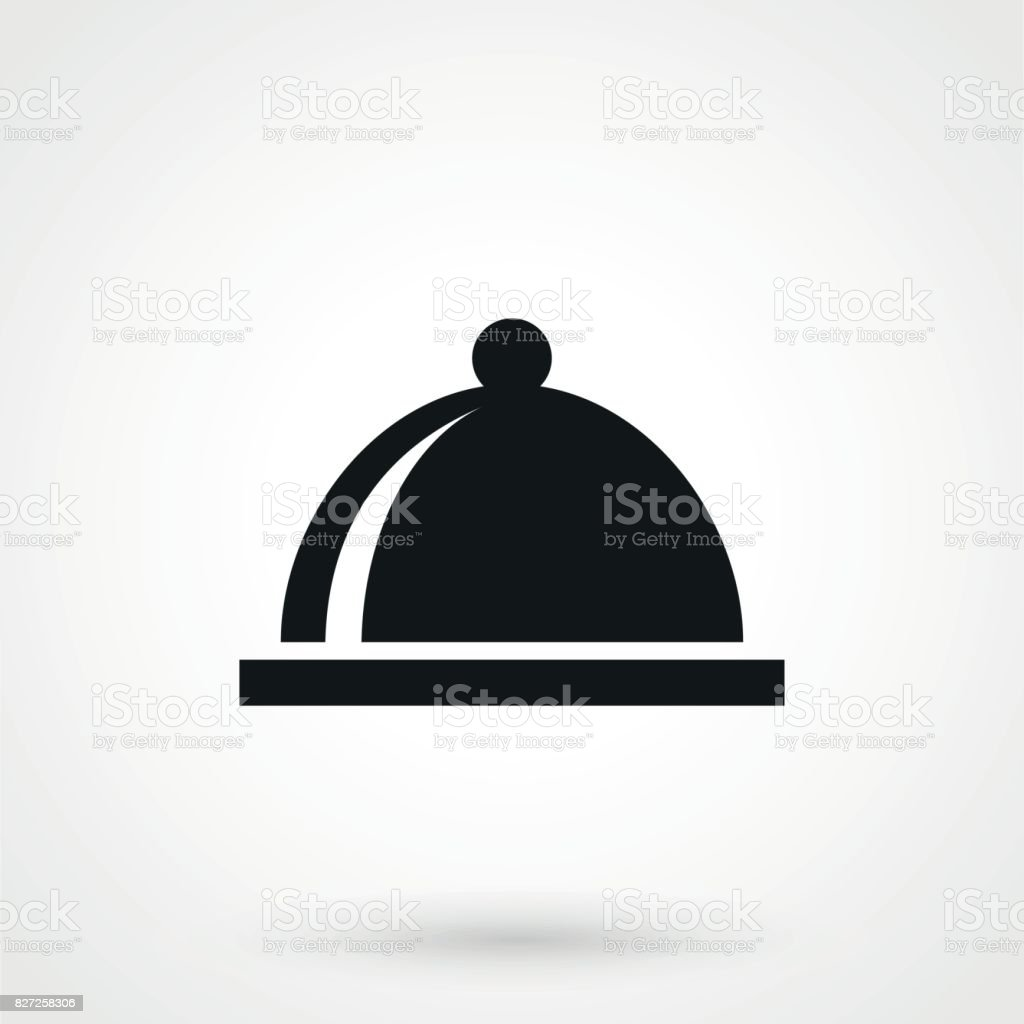 Tray Icon isolated on background vector art illustration