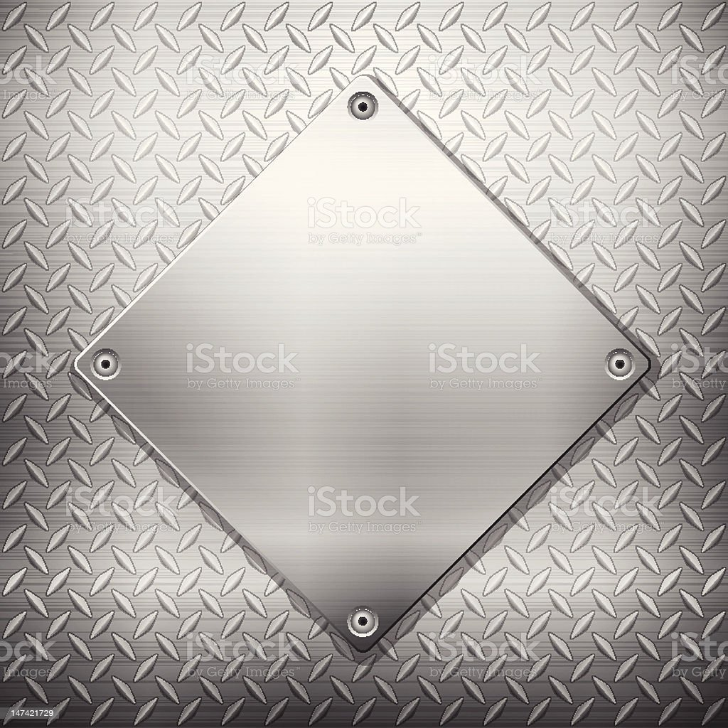 Tread pattern metal with a smooth metal diamond on top royalty-free tread pattern metal with a smooth metal diamond on top stock vector art & more images of aluminum